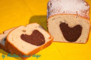 Marmorkuchen mit Herz