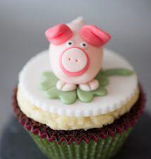 Schweinchen-Schoko Cupcake