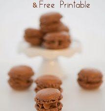 Schokoladen Macarons und Macarons Vorlage/Free Printable