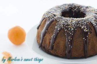 Mandarinen-Schokoladen Marmor Gugelhupf