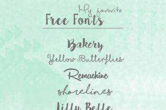 Meine 7 liebsten Free Fonts