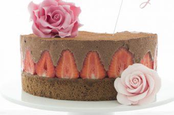 Erdbeer-Schokoladenmousse Torte