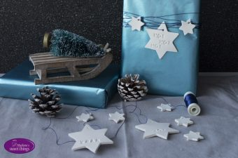 Weihnachts Geschenkanhänger aus Fimo
