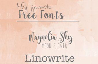 Meine 4 lieblings Combo Fonts