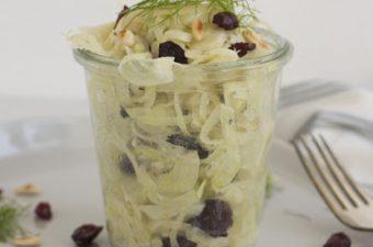 Laumwarmer Fenchel-Salat mit Cranberries