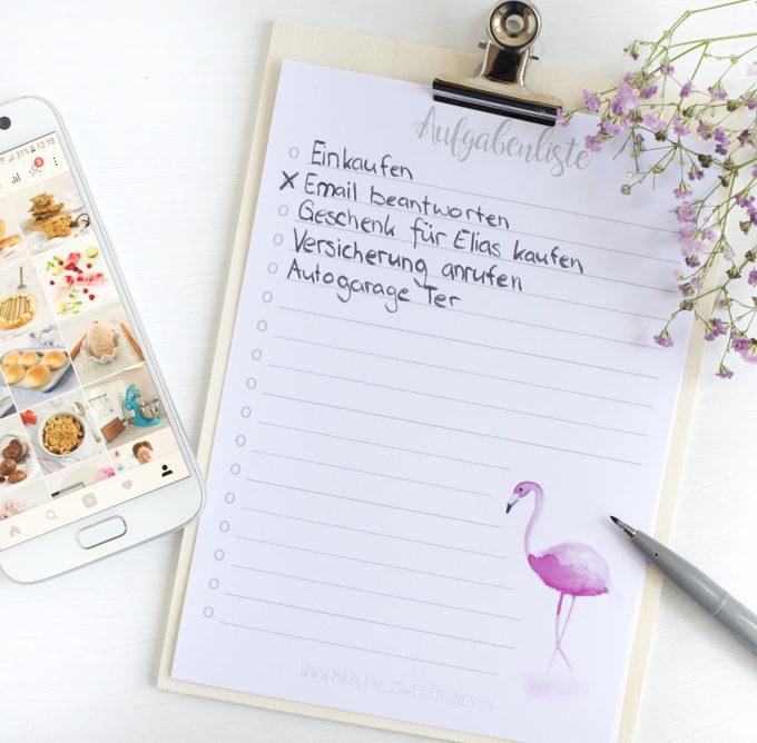 Flamingo Aufgabenliste Printable 1