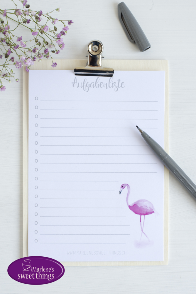 Flamingo Aufgabenliste Printable 3