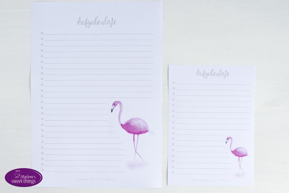 Flamingo Aufgabenliste Printable 2