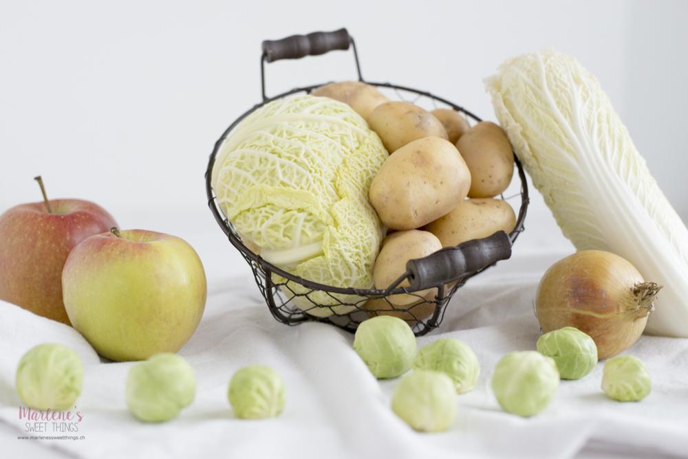 Früchte und Gemüse Saisonkalender Februar