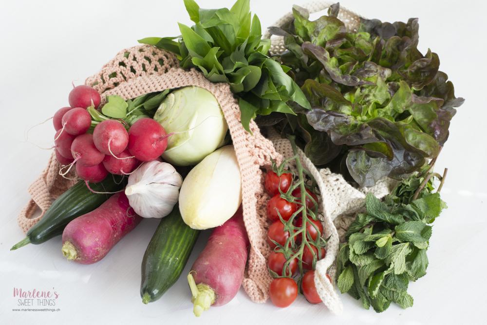 Früchte und Gemüse Saisonkalender April