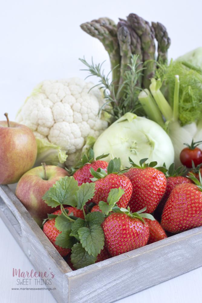 Gemüse und Früchte Saisonkalender Mai