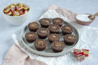 Caramel Brownie Muffins mit Halter Caramel
