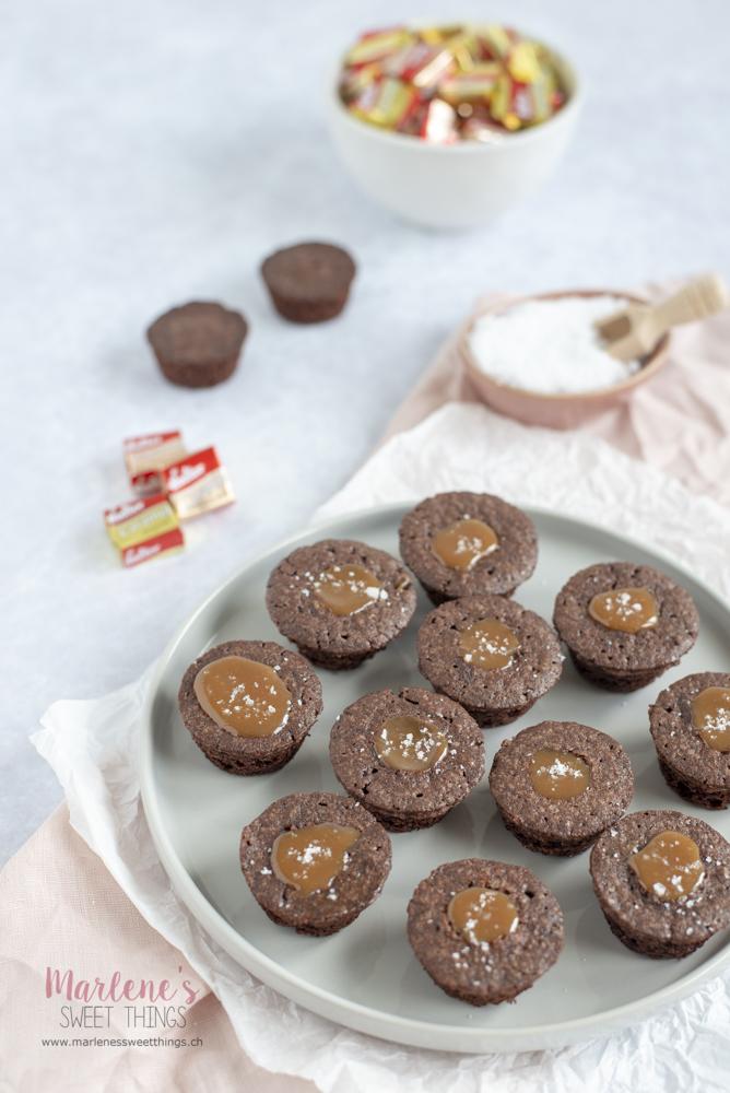 Caramel-Brownie-Muffins