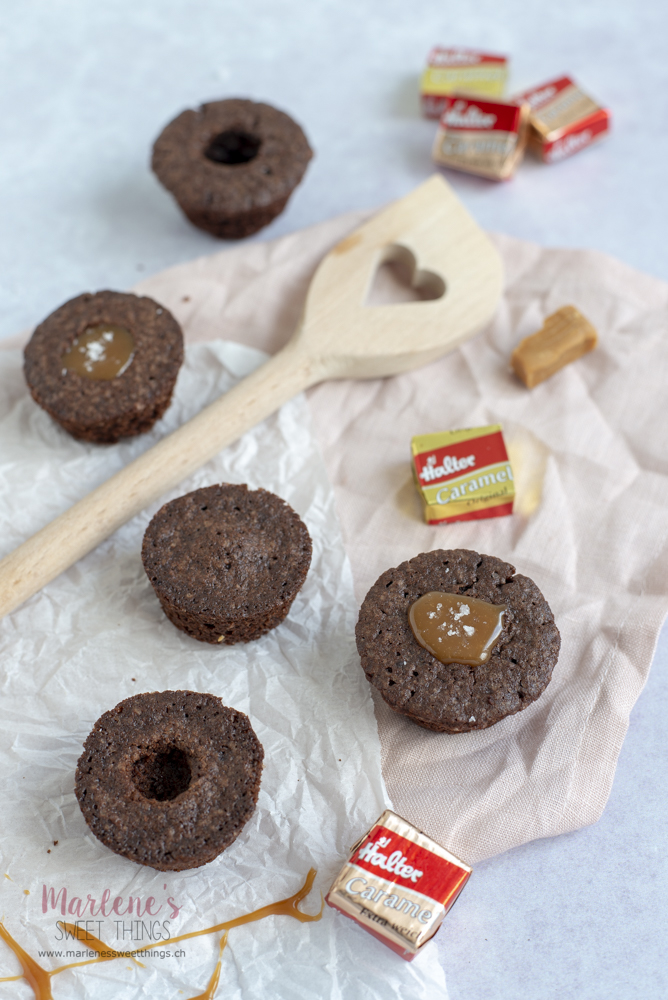 Muffins mit Caramel kern