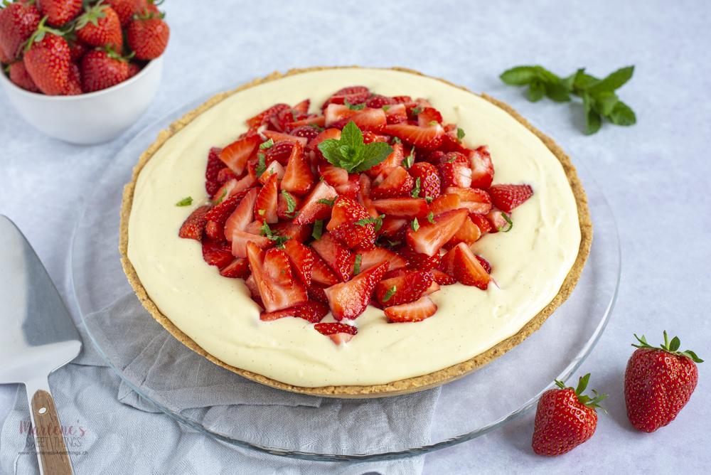 Erdbeer–Vanille Tarte