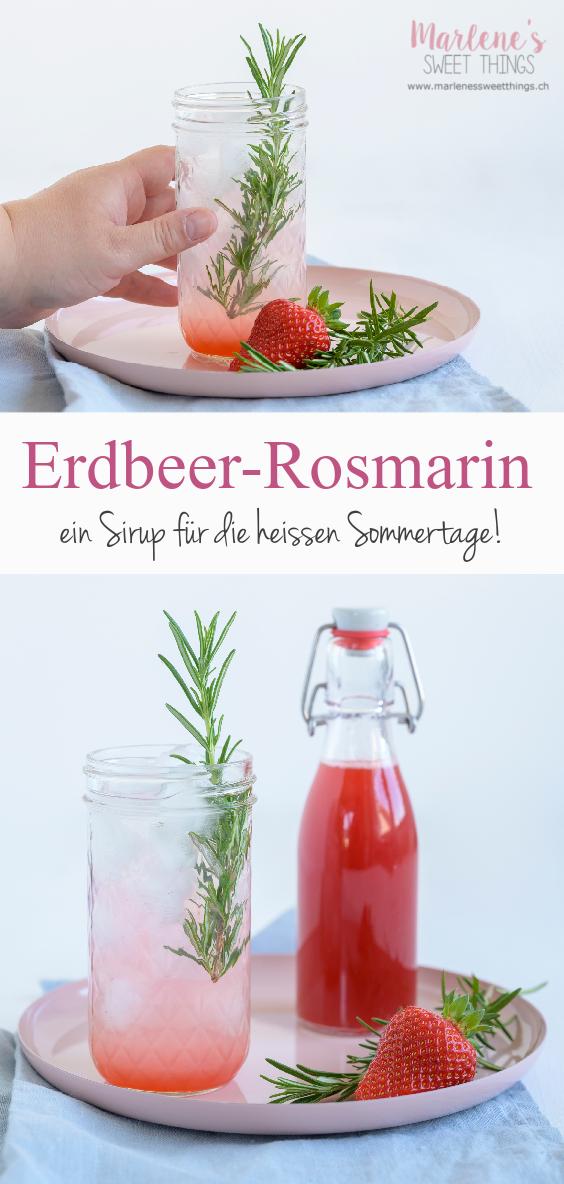 Erdbeer Rosmarin Sirup