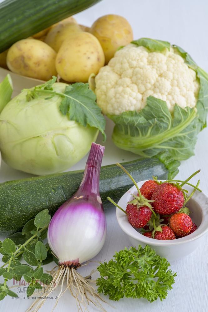 Früchte und Gemüse Saisonalkalender Juli