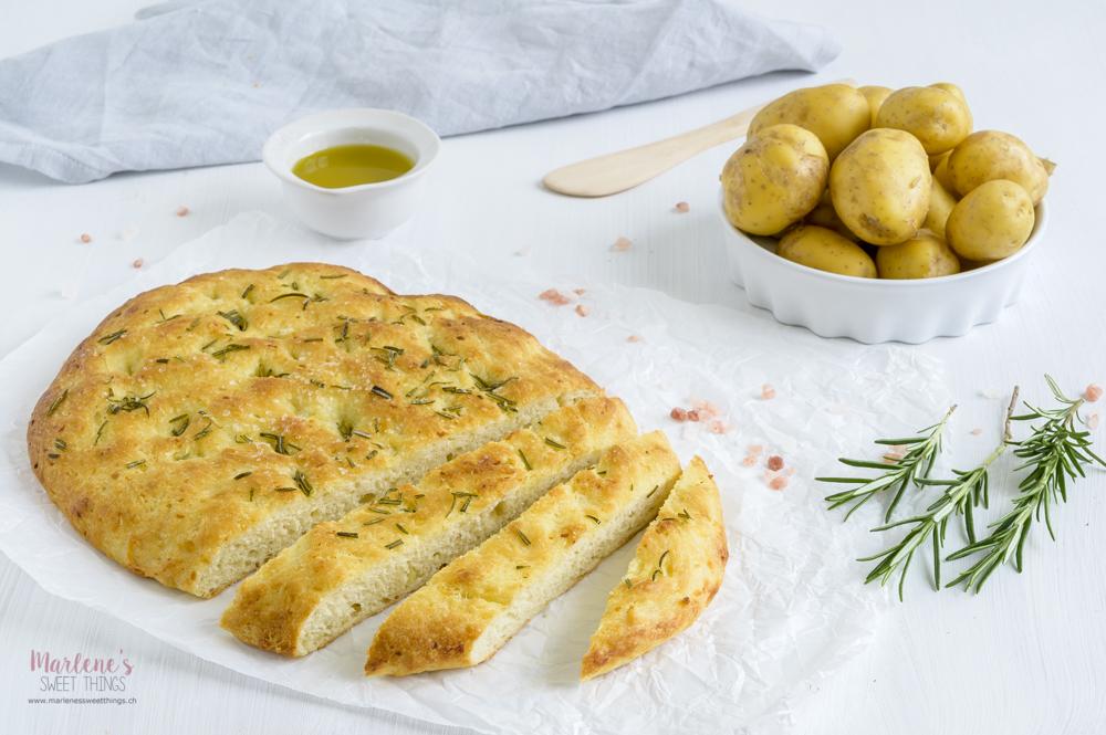 Kartoffel Focaccia mit Rosmarin