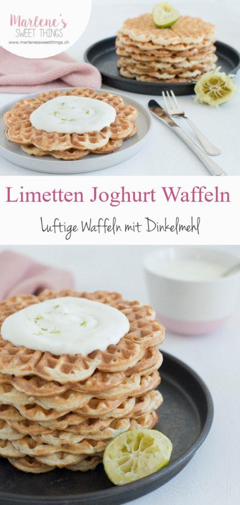 Limetten Dinkel Joghurt Waffel